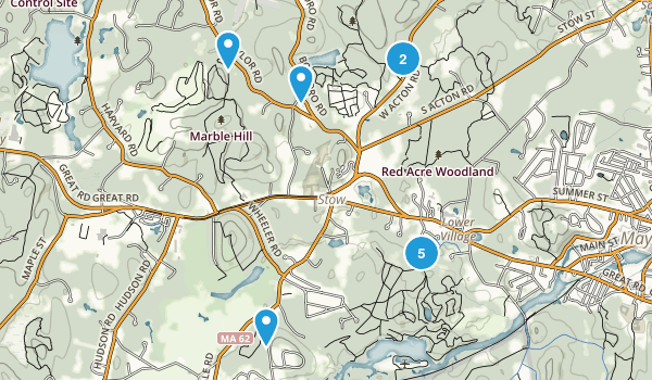 Stow, Massachusetts Walking Map