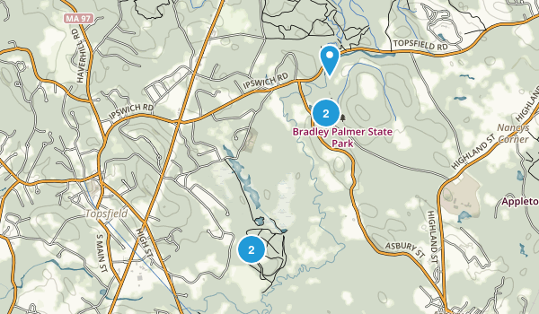 Topsfield, Massachusetts Nature Trips Map