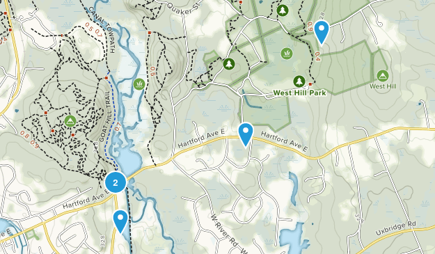Uxbridge, Massachusetts Forest Map