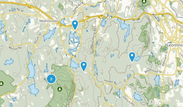 Westminster, Massachusetts Hiking Map