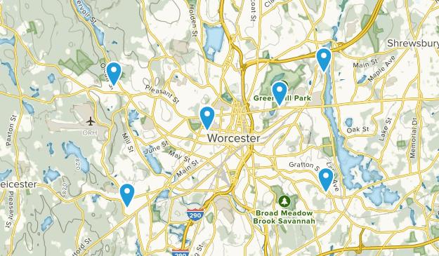 Worcester, Massachusetts Birding Map