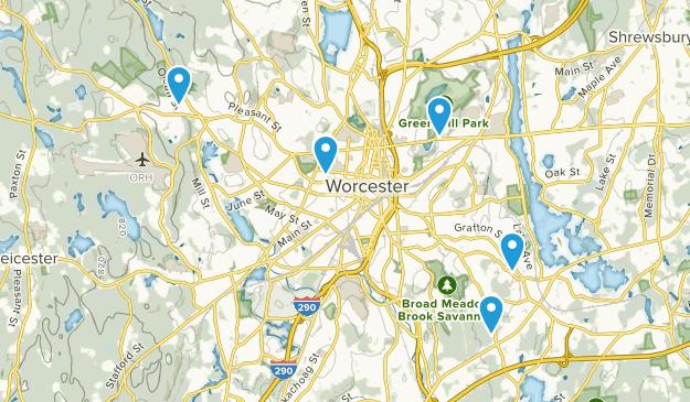 Worcester, Massachusetts Views Map