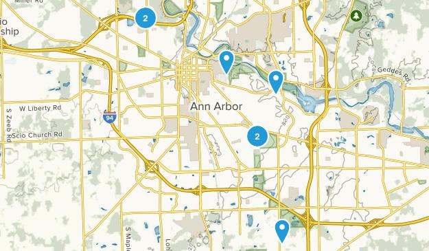 Ann Arbor, Michigan Birding Map