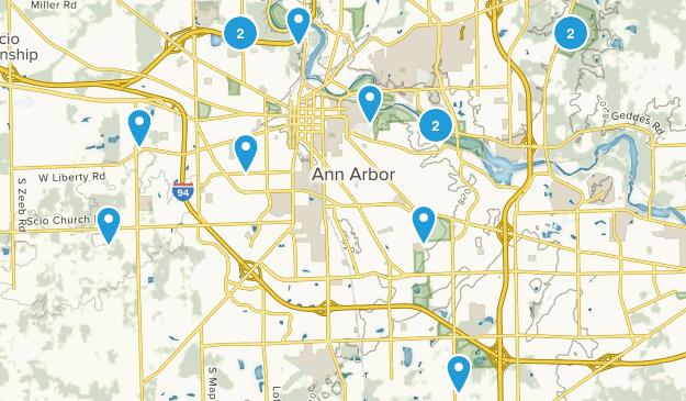 Ann Arbor, Michigan Kid Friendly Map