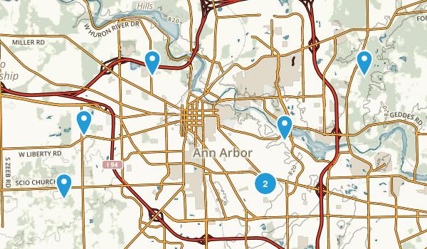 Ann Arbor, Michigan Nature Trips Map