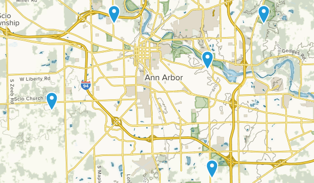 Ann Arbor, Michigan Wildlife Map