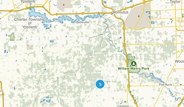Belleville, Michigan Bird Watching Map