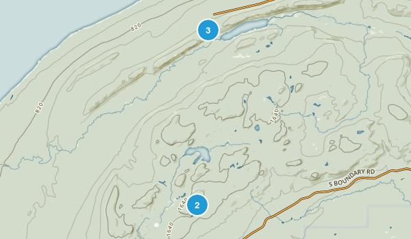 Buckshot Landing, Michigan Hiking Map