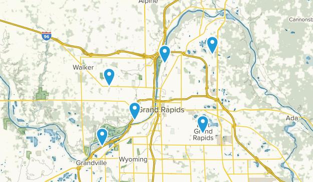 Grand Rapids, Michigan Nature Trips Map