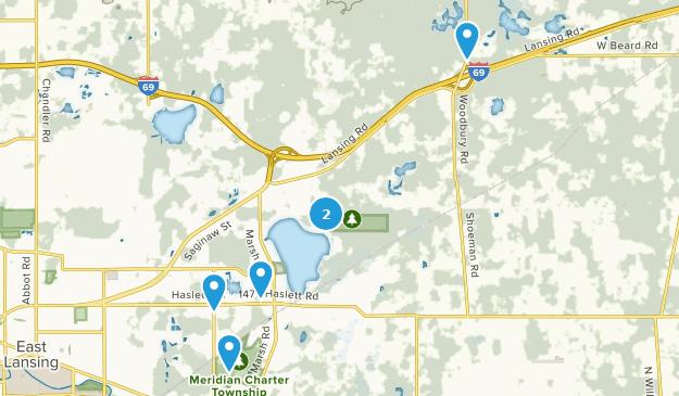 Haslett, Michigan Hiking Map