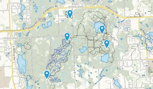 Highland, Michigan Forest Map