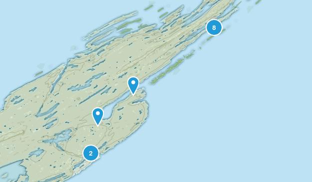 Houghton Twp, Michigan Hiking Map