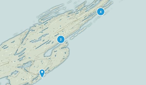 Houghton Twp, Michigan Nature Trips Map