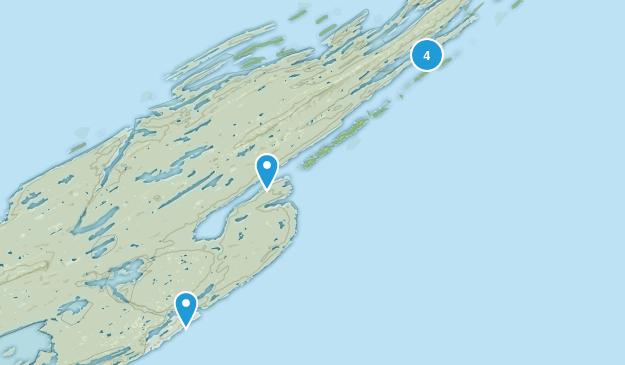 Houghton Twp, Michigan Walking Map
