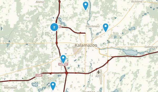 Kalamazoo, Michigan Dogs On Leash Map