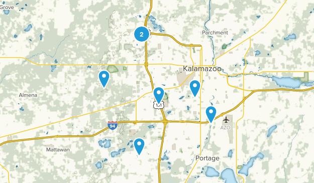 Kalamazoo, Michigan Trail Running Map