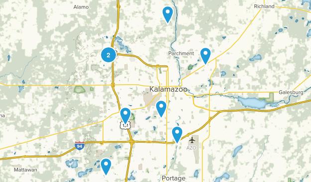 Kalamazoo, Michigan Walking Map