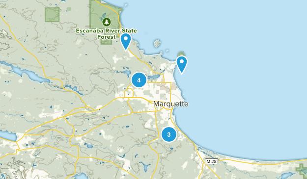 Marquette, Michigan Forest Map