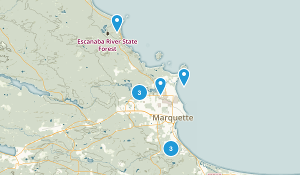 Marquette, Michigan Trail Running Map