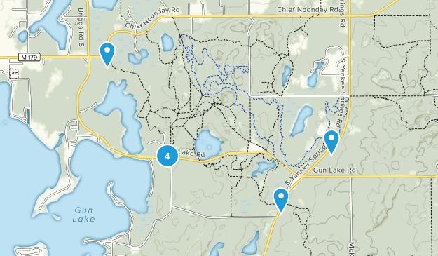 Middleville, Michigan Lake Map