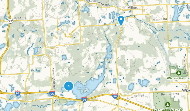 Milford, Michigan Lake Map