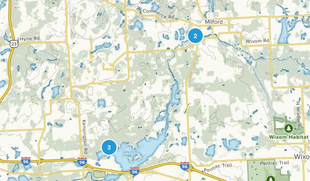 Milford, Michigan Nature Trips Map