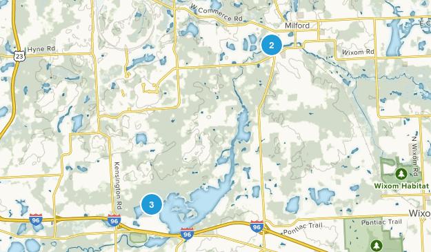 Milford, Michigan Trail Running Map