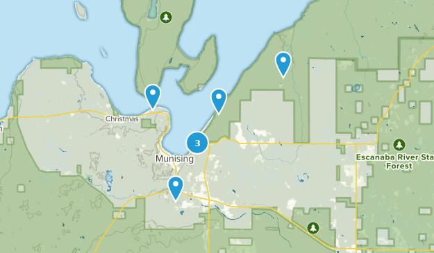 Munising, Michigan Hiking Map