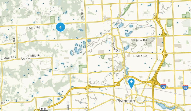Northville, Michigan Dogs On Leash Map