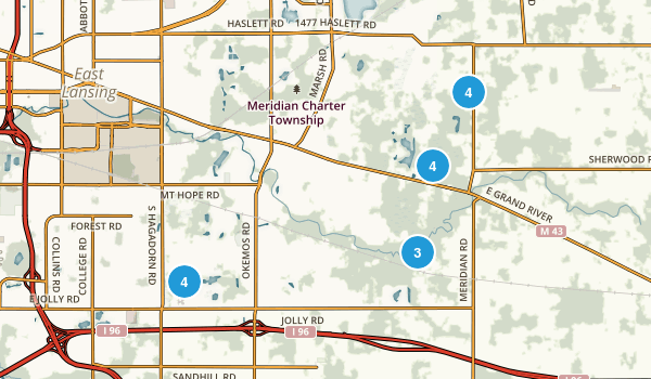 Okemos, Michigan Birding Map