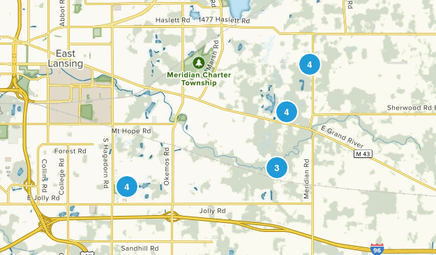 Okemos, Michigan Walking Map