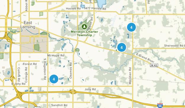 Okemos, Michigan Wildlife Map