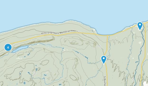 Ontonagon, Michigan Dogs On Leash Map