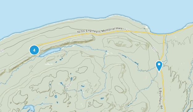 Ontonagon, Michigan Forest Map