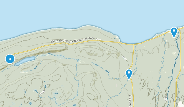 Ontonagon, Michigan Hiking Map