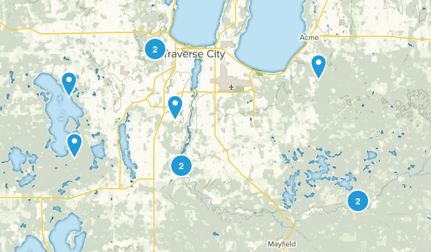 Traverse City, Michigan Forest Map