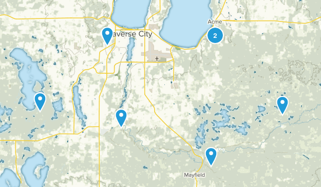Traverse City, Michigan Wild Flowers Map