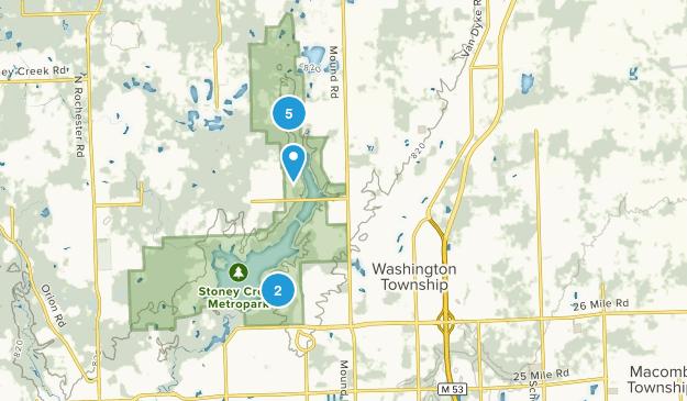 Washington, Michigan Hiking Map