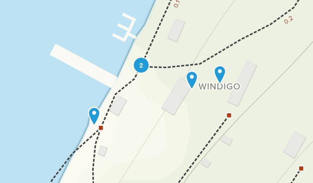 Windigo, Michigan Hiking Map