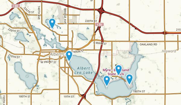 Albert Lea, Minnesota Hiking Map