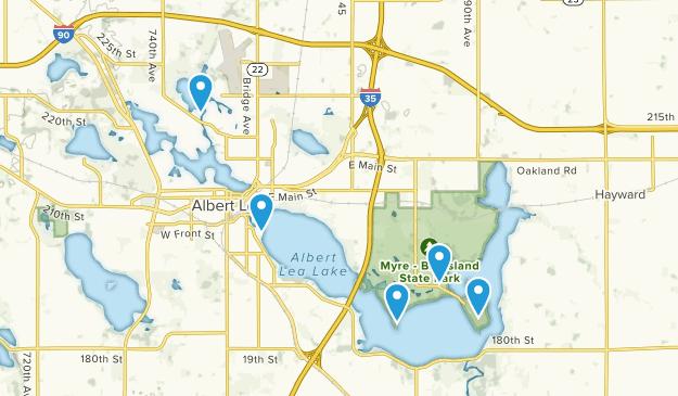 Albert Lea, Minnesota Lake Map