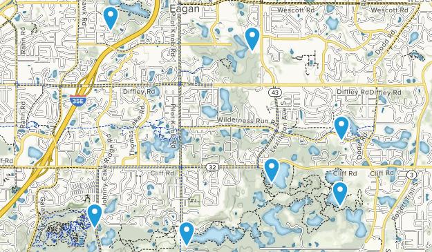 Eagan, Minnesota Birding Map