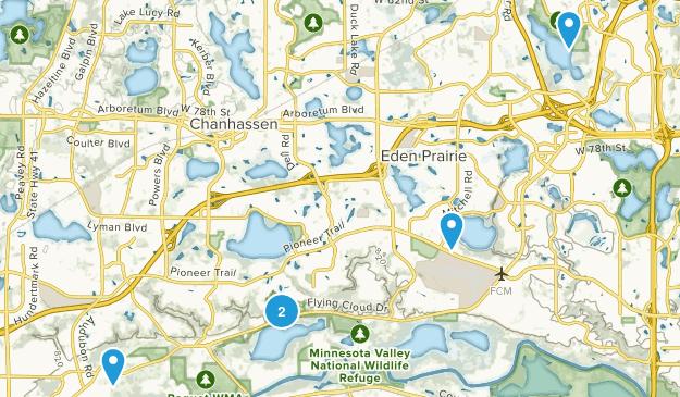 Eden Prairie, Minnesota Birding Map