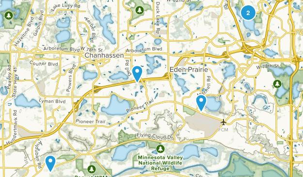 Eden Prairie, Minnesota Lake Map