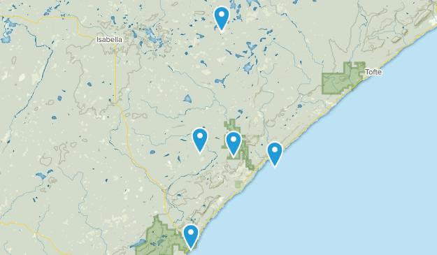 Finland, Minnesota Hiking Map
