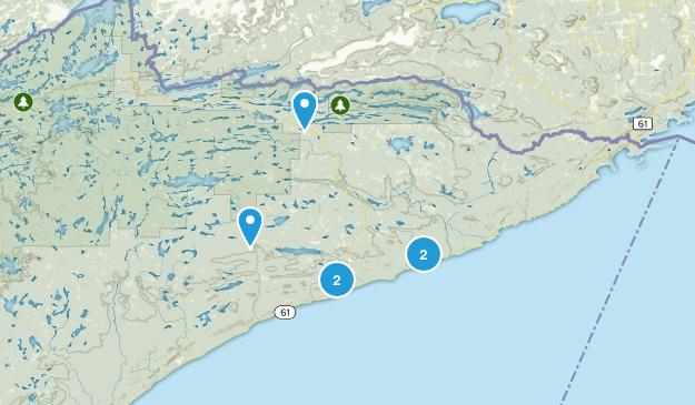 Grand Marais, Minnesota Hiking Map