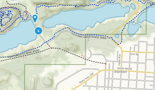 Ironton, Minnesota Mountain Biking Map