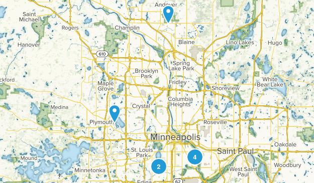 Minneapolis, Minnesota Beach Map