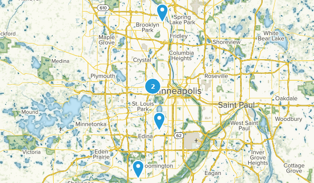 Minneapolis, Minnesota Mountain Biking Map