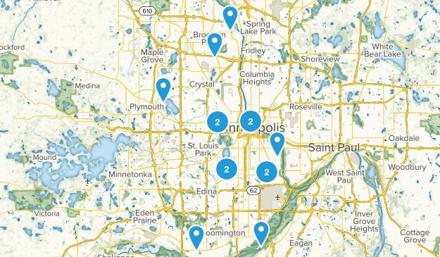 Minneapolis, Minnesota Views Map